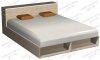 """Кровать 1,6х1,9 """"Подиум"""" с двусторонней тумбой и нишей (ш1650в760г2200)"""