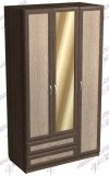 Шкаф 3-х створчатый 3дв-2ящ-НаклПроф-Зерк (ш1200в2200г620)