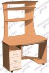 Стол ПК угловой 002 с надстройкой (ш1200в1750г840)